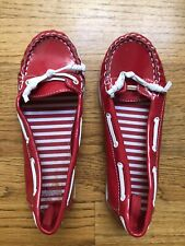 Gymboree Boat Shoes Red  Patent Girls Size 1