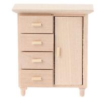 1:12 Dollhouse Miniature Wooden Cabinet  Model Furniture Decor Accessor ch