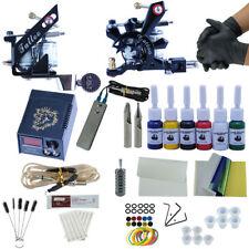 New Tattoo Kit 2 Pro Machine Guns 6 Inks Power Supply Needle Grips Cup