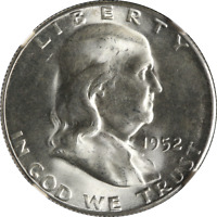 1952-S Franklin Half Dollar FBL?? NGC MS65 Blast White Great Eye Appeal