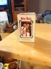 "Holly Bells ""Teddy Bear"" Porcelain Collector Bell Ornament"