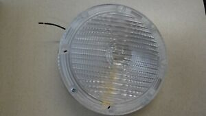School Bus 7 inch STAINLESS Clear Back Up Light - 1 Wire - Weldon 1010 Backup 7""