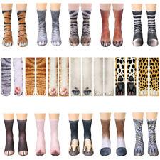 Damen Herren Winter Socken 3D Katzen Tier Fuß Lang Socken Karnevalssocken Unisex