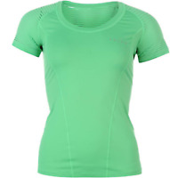 Falke Crew Neck Tee Top T Shirt Womens Ladies Size UK Small Green *33