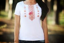 Ukrainian embroidered sorochka, womens t-shirt, vyshyvanka, embroidery, Size XXL