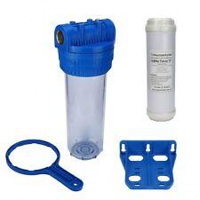 "Wasser Filtergehäuse 10"" 3-teilig 3/4"" IG Messing Vorfilter Pool + Kalkfilter"