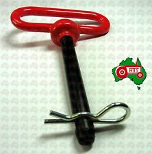 """Tractor Red Handle Hitch Pin with Grip Clip Pin Ø1/2"""" Working length 3 5/8"""""""