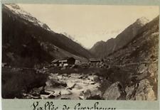 Suisse, vallée de Göschenen Vintage albumen print  Tirage albuminé  13x18