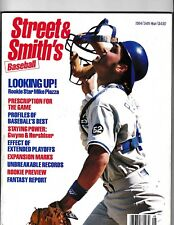 1994 Street & Smith's Baseball Magazine Rookie Star Mike Piazza On Cover