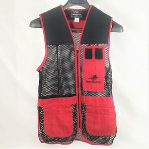 WINCHESTER Red Black Trap Skeet Shooting Hunting Vest Sz 34-36 small