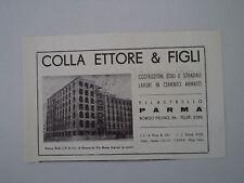 advertising Pubblicità 1951 ETTORE COLLA E FIGLI - COSTRUZIONI PILASTRELLO PARMA
