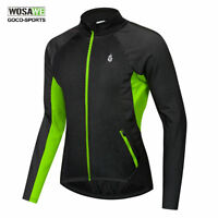 Mens Winter Cycling Jackets Thermal Fleece Warmer Bicycle Coat Bike Jersey S-XXL