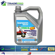 Lawnmower Oil 4Ltr 2 Stroke Bynorm Chainsaw Grass Trimmer Brush Cutter Mower