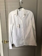 Pietro Brunelli Maternity Women's White CamJ Business Shirt Size Medium NWT