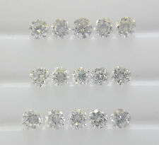 1.5mm 15pc 0.24cts VS-SI Clarity Natural Loose Brilliant Diamond Lot G-H Color