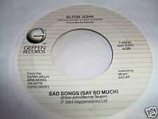ELTON JOHN-SAD SONGS/A SIMPLE MAN pop rock VG+ VINYL RECORD 45