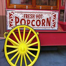 POPCORN WAGON SET OF 4 COASTERS RUBBER WITH FABRIC TOP