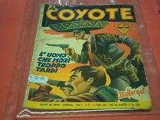 EL COYOTE DI J.MALLORQUI N° 107 DARDO 1955 -RARO ROMANZO COLLANA DEL COYOTE