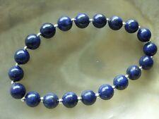 Lapislazuli Armband Bracelet 19,7 cm m.8 mm Lapis Lazuli Kugeln auf Stretchband