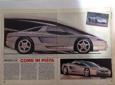 ARTICOLO MERCEDES C 112 come in pista  -  1990