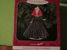 Hallmark 1998 Barbie doll Series ornament w/ box #6 black ball gown