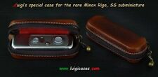 LUIGI's CASE for THE RARE MINOX RIGA CAMERA,NATURAL AGED BROWN,NOW ALSO FOR B+BL