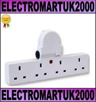 4 WAY PLUG IN  MAINS SOCKET ADAPTOR CONVERTER SWITCHED