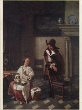Alte Kunstpostkarte - Hendrik van der Burch - Dame und Herr