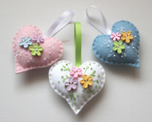 Wool Felt Heart Making Kit - Wedding Gift - Favour - Possibilities -  14 Designs