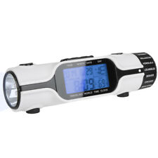 World Time Travel Alarm Clock Digital LCD Backlit Screen LED Torch Flashlight !