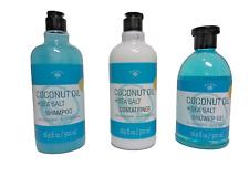 Coconut Oil & Sea Salt Shampoo, Conditioner, and Shower Gel Bath Set Bolero