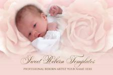 Exclusive Reborn Template eBay Vorlage Auktionsvorlage Baby in Roses