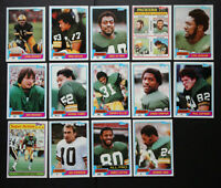 1981 Topps Green Bay Packers Team Set of 14 Football Cards