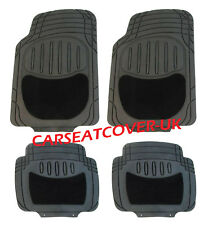LADA NIVA ESTATE  - Black HEAVY DUTY All Weather RUBBER + CARPET Car Floor MATS