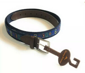 """$68 Tommy Bahama Embroidered Beer Can Belt Men's Size SMALL (30-32"""") NWT"""