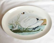Portmeirion Birds of Britain Mute Swan Oval Plate - 14 3/4 Inch