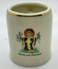 Gruss Aus Munchen Greetings from Munich Beer Mug Stein Child Size Pottery Gold