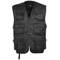 Gilet sans manche multi-poches reporter taille XL X-Large noir outdoor vest