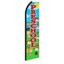 Preschool Advertising Flutter Feather Sign Swooper Banner Flag Only