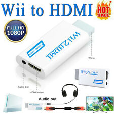 Portable Wii to Hdmi Full Hd Converter Wii2Hdmi Audio/Video Output Adapter White
