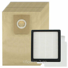 HEPA Filter Pad Kit + 10 Bags for NILFISK GM200 GM200E GM300 GM400 Vacuum Hoover