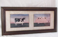 "M.WISCOMBE ""BUTTERCUP"" & ""The Spotted Pig No.3""-22 1/4 X 10 1/3""Matted/Framed"