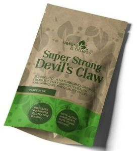 Devils Claw Powder 5000mg UK Best Natural Vegan Capsules Health Joint Support