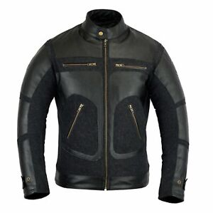 Men's Motorcycle Rider Biker Leather Fashion Jacket Patches Style Outdoor Jacket