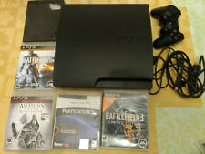 Sony Playstation 3 PS3 Slim CECH-3001A 160GB Console TESTED 5 Game