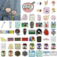 Cartoon Lovely Enamel Piercing Brooch Pin Collar Decor Badge Corsage JewelryGift