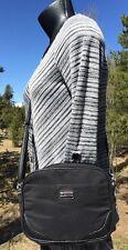Tyler Rodan Black Nylon/Leather Crossbody Bag