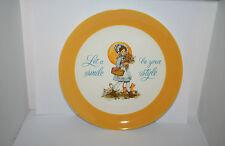 1973 Keepsake Dear Hearts Collector Plate Girl in Bonnet Flowers Cat Chic Shabby