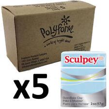 Sculpey Polymer Clay - SKY BLUE - Box of 5 x 57g - Just $3.30 per Block