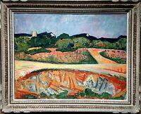 HST de Georges Marchou (1898-1984),Les vieux moulins- Provence.